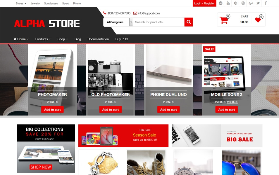 Alpha Store Responsive WordPress Theme