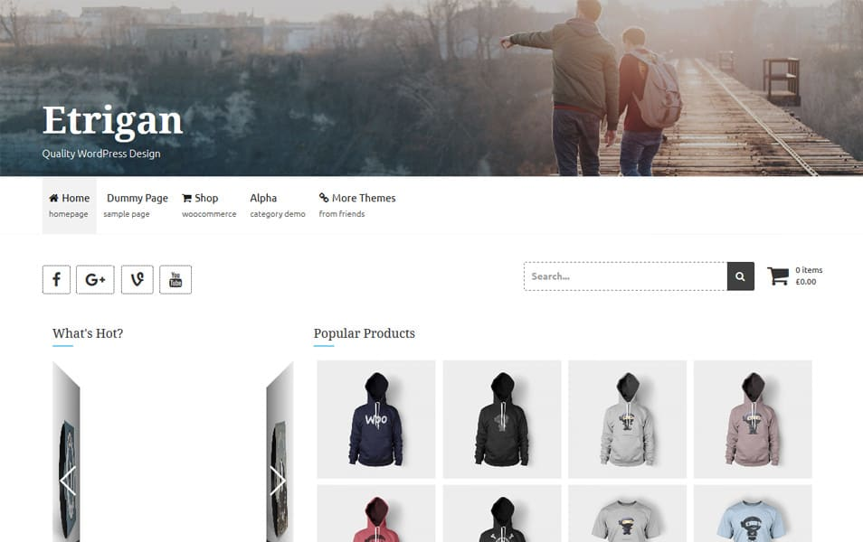 Etrigan Responsive WordPress Theme