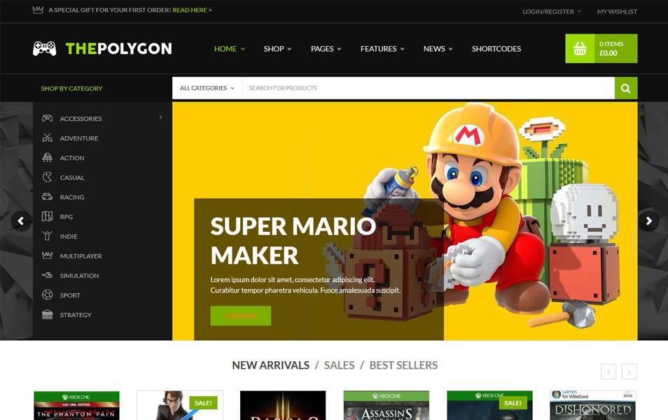 The Polygon Responsive WordPress Theme