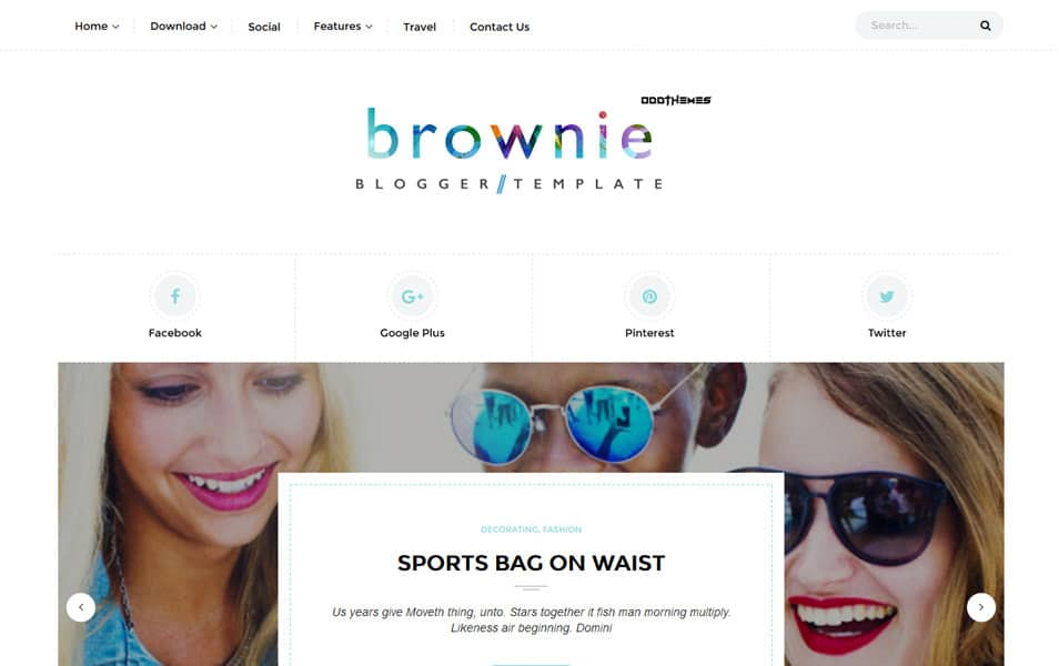 Brownie Responsive Blogger Template