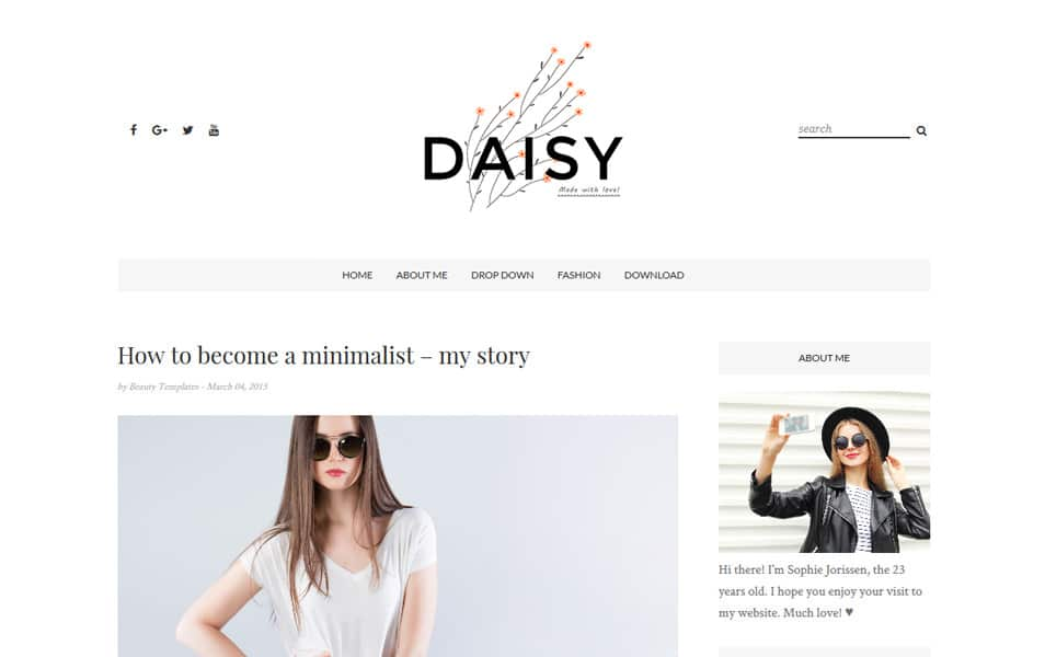 Daisy Responsive Blogger Template
