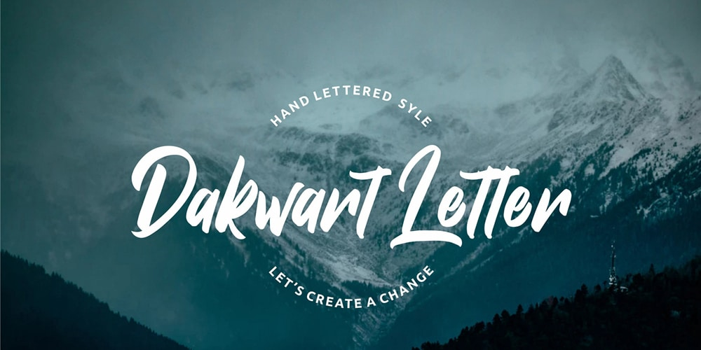 Dakwart Letter Display Font