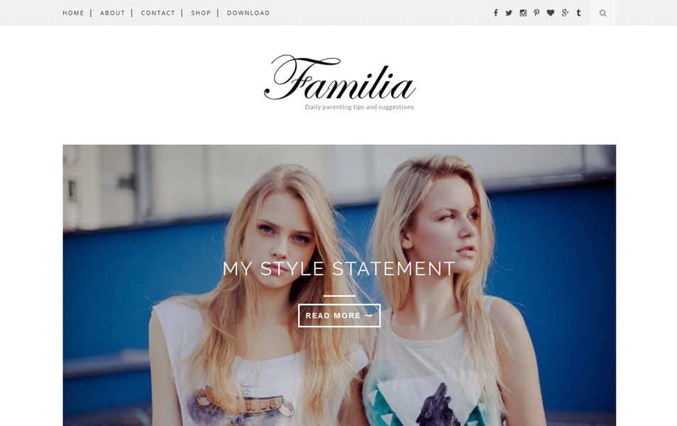 Familia Responsive Blogger Template