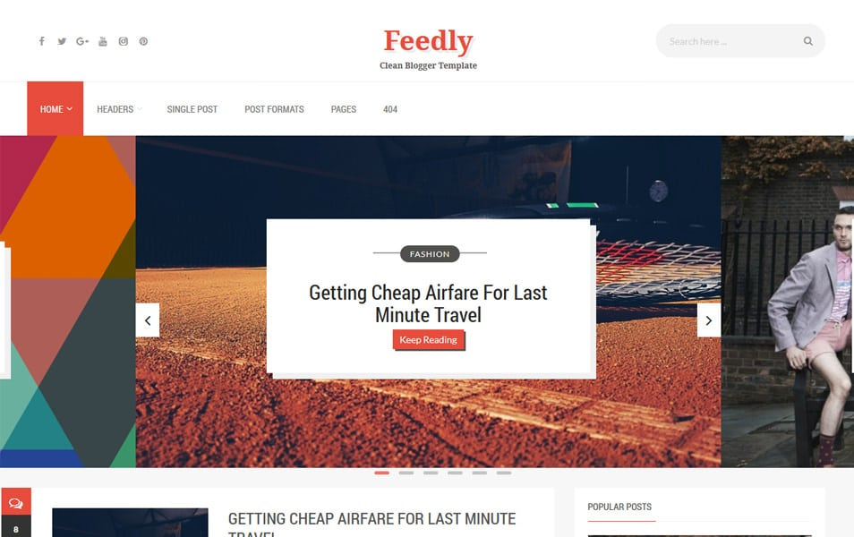 Feedly Responsive Blogger Template