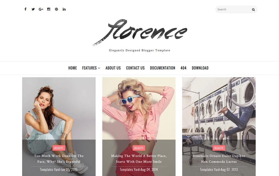 Florence Responsive Blogger Template