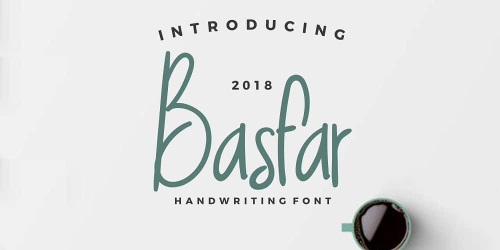 Free Basfar Handwriting Font