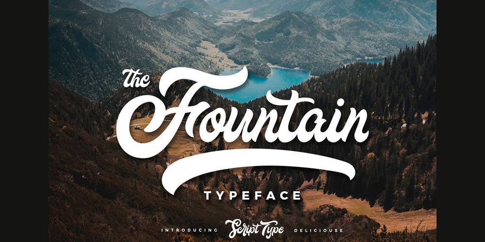 Free Fountain Script Typeface