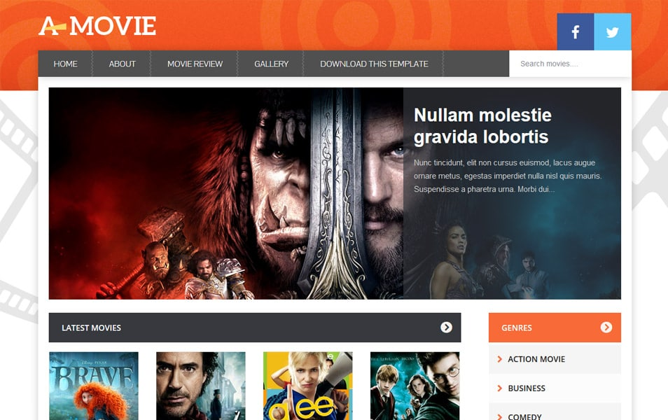 Movie Responsive Blogger Template