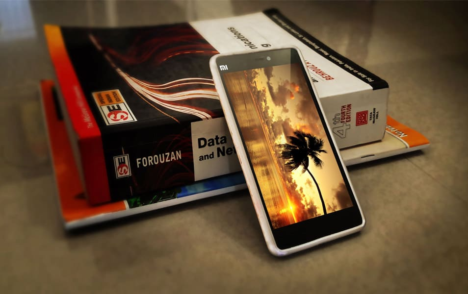 Realistic MI4i with Book Mockup