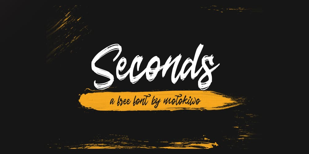 Seconds Brush Script Font