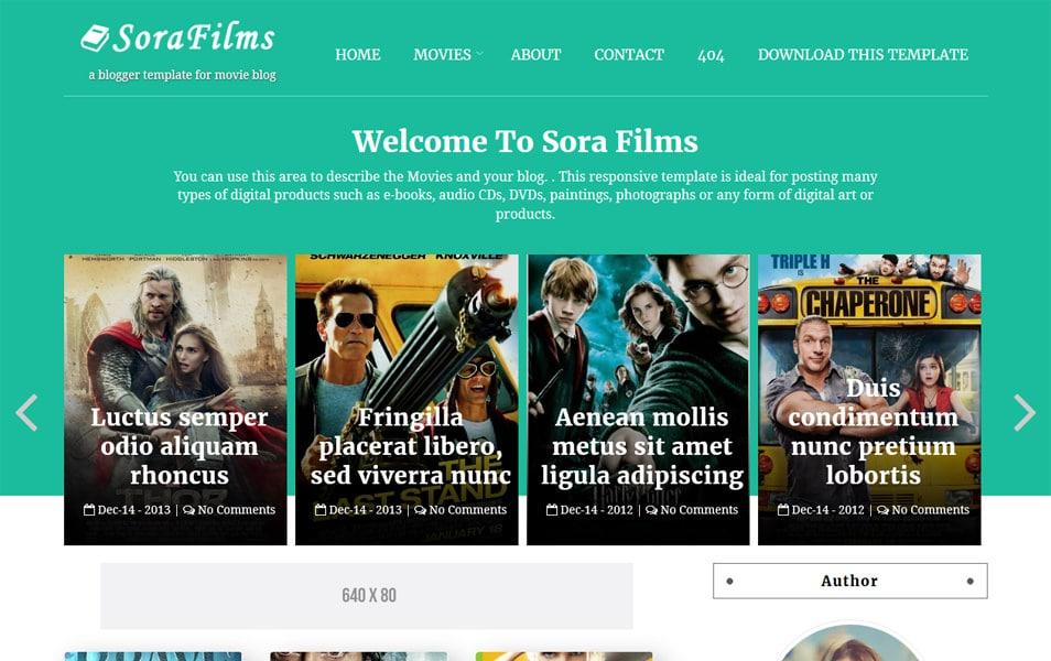 Sora Films Responsive Blogger Template