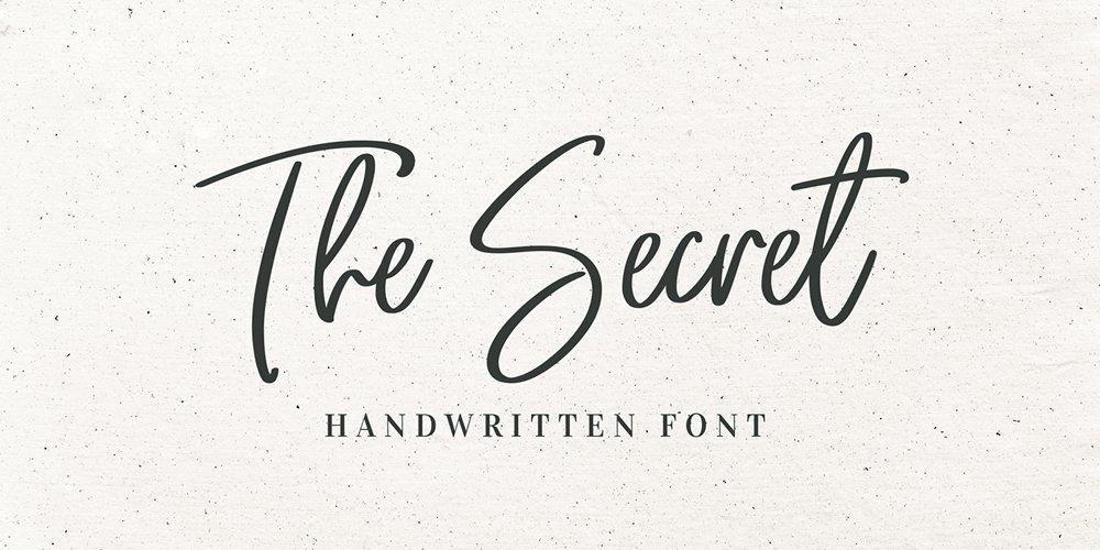 The Secret Free Handwritten Font