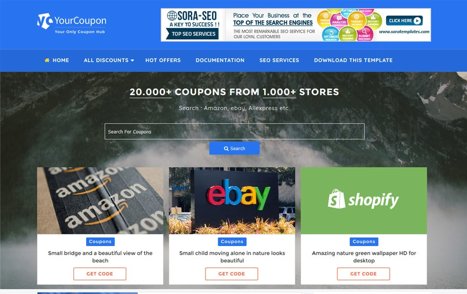 Your Coupon Responsive Blogger Template