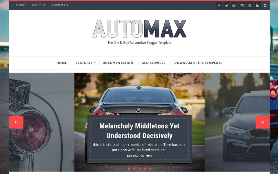 Automax Responsive Blogger Template