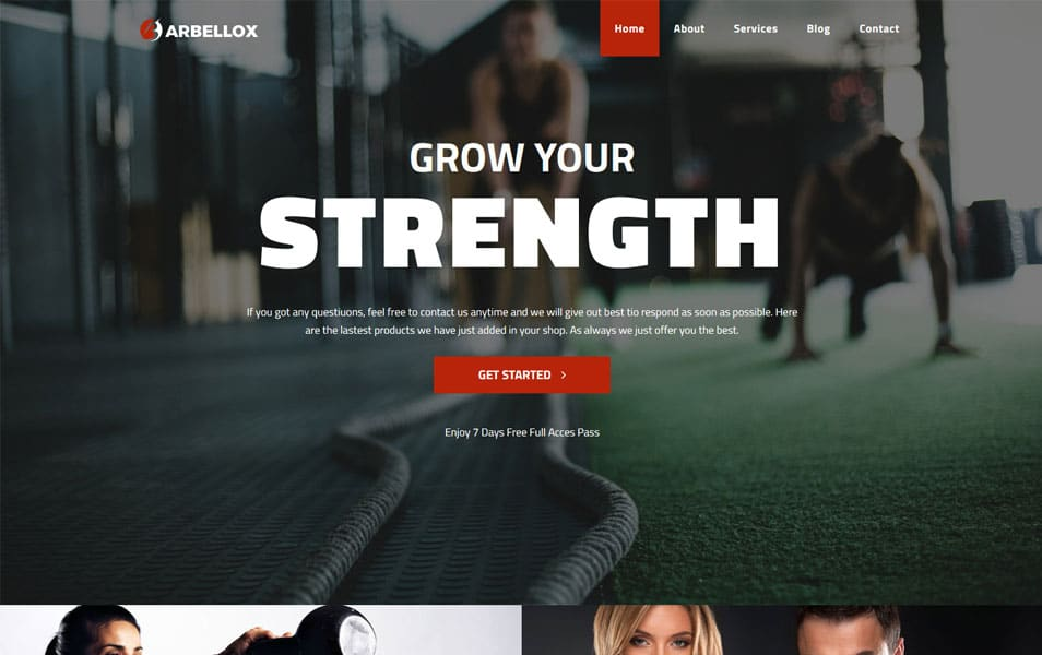 Barbellox - Gym Multipurpose Modern Elementor WordPress Theme