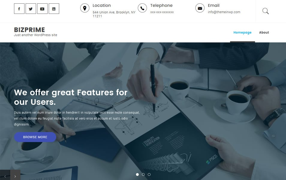 Bizprime Responsive WordPress Theme