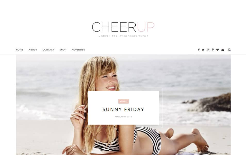 CheerUp Responsive Blogger Template