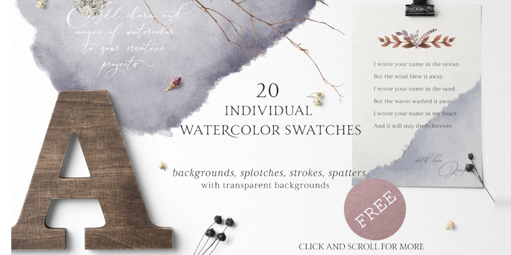 Free Folklore Watercolor Set