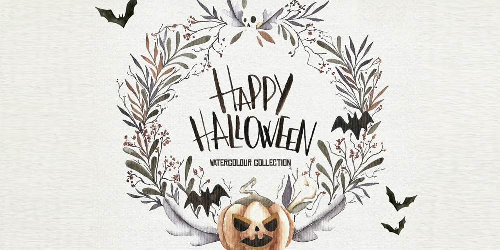 Free Watercolor Halloween Set