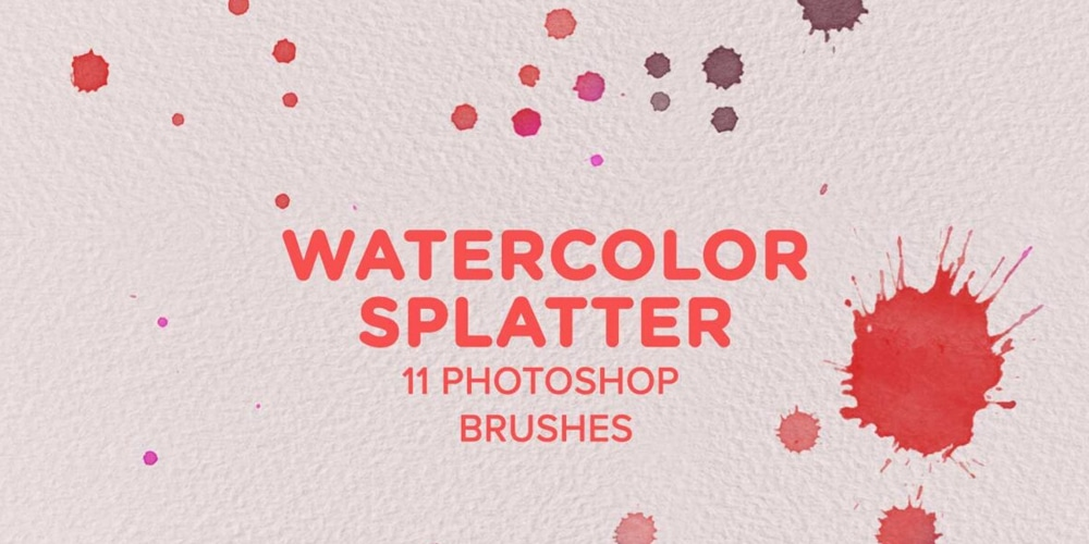 Free Watercolor Splatter Photoshop Brushes