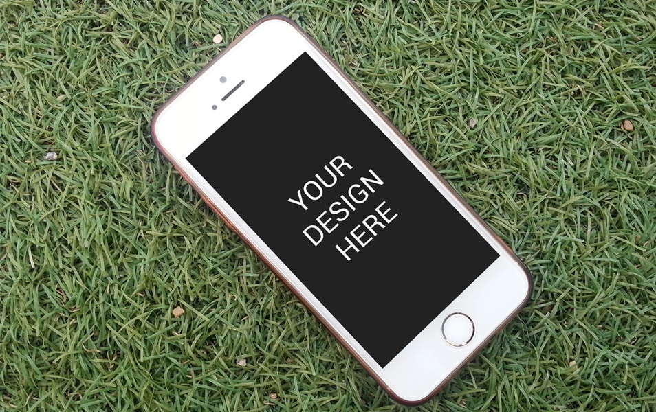 IPhone 6 on grass mockup