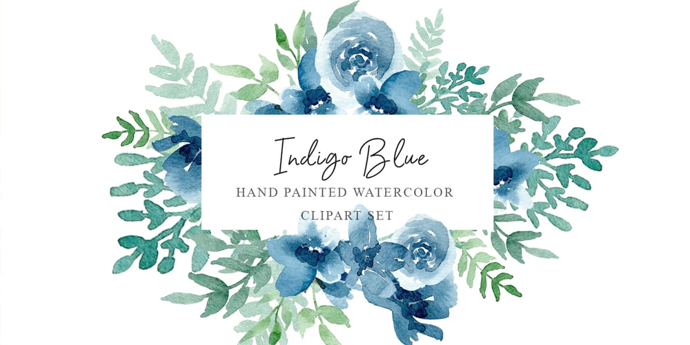 Indigo Blue Watercolor Pack