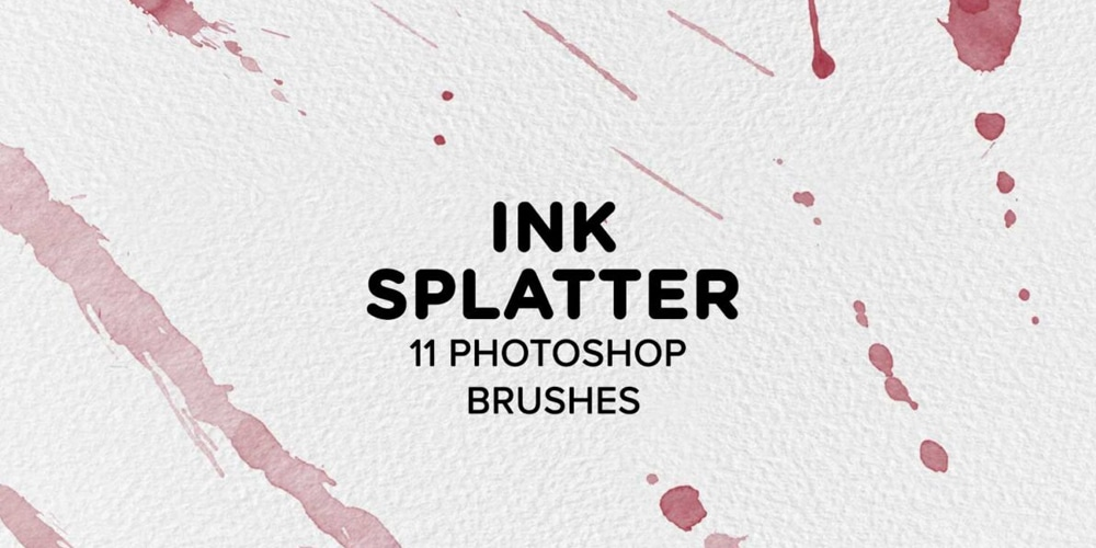 Ink Splatter Watercolor Photoshop Brushes