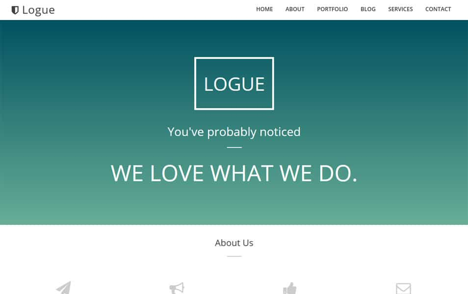 Logue One Page Blogger Template