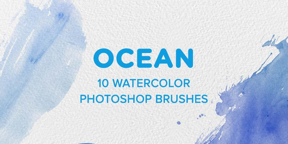 Ocean Watercolor PS Brushes