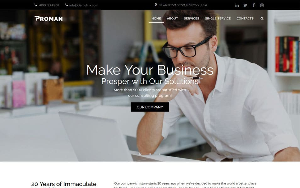 Proman - Business Multipurpose Modern Elementor WordPress Theme