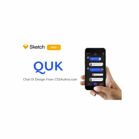 QUK Chat UI Design ( Free Sketch UI Design ) 1