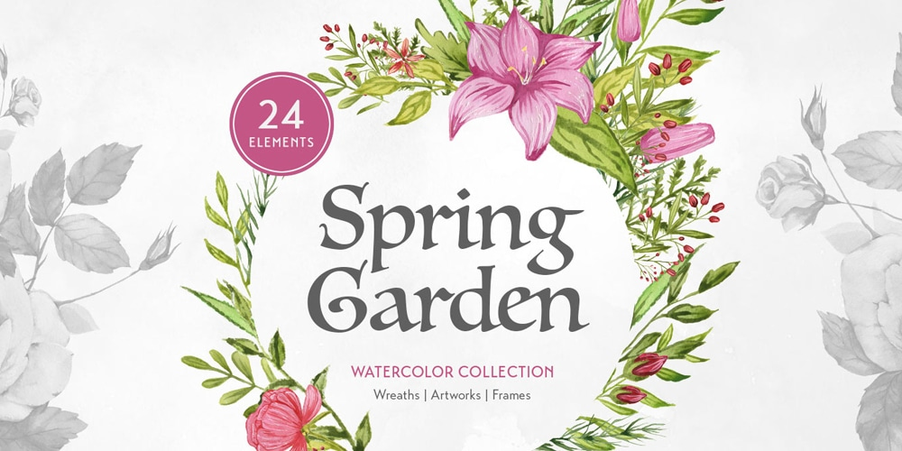 Spring Garden Watercolors