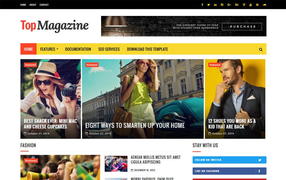 Top Magazine Responsive Blogger Template