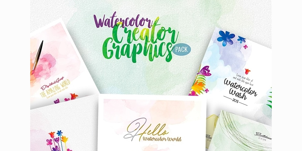 Watercolor Creator Graphics