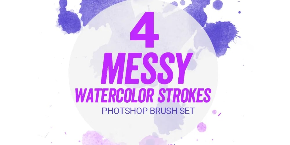 Watercolor Paint Strokes PS Brush Set