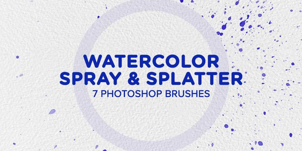 Watercolor Spray & Splatter Photoshop Brushes