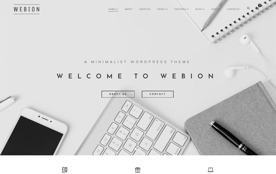 Webion - Minimal And Multipurpose WordPress Theme