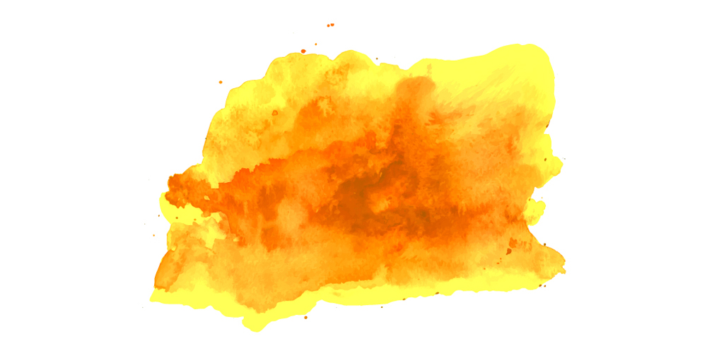 Yellow Watercolor Splat