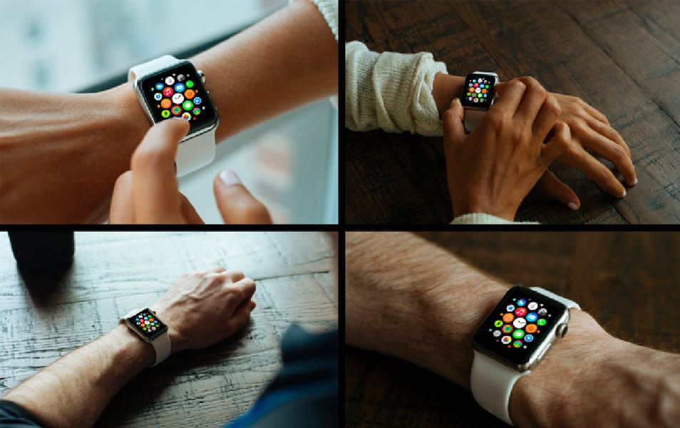 5 Free Apple Watch Mockups