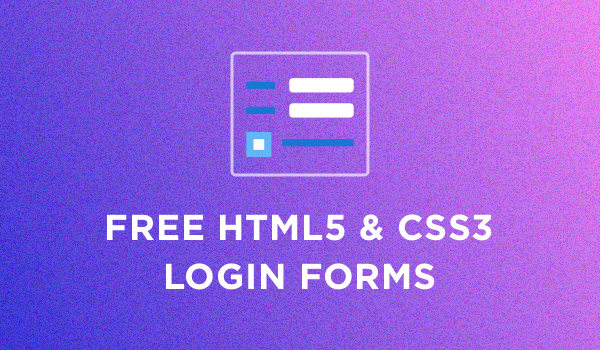50+ Free HTML5 And CSS3 Login Forms