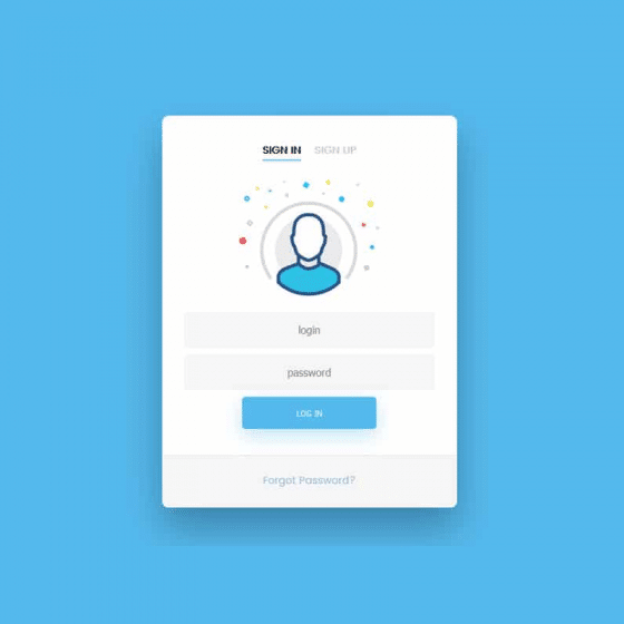 Free HTML5 And CSS3 Login Forms