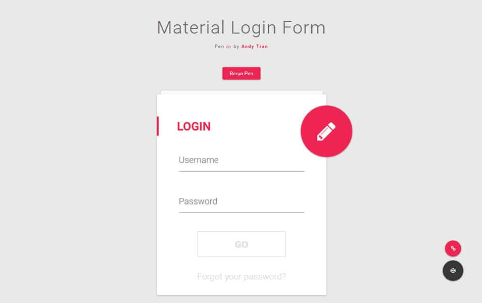 50+ Free HTML5 And CSS3 Login Forms » CSS Author