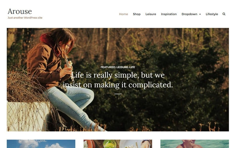 Arouse Responsive WordPress Theme