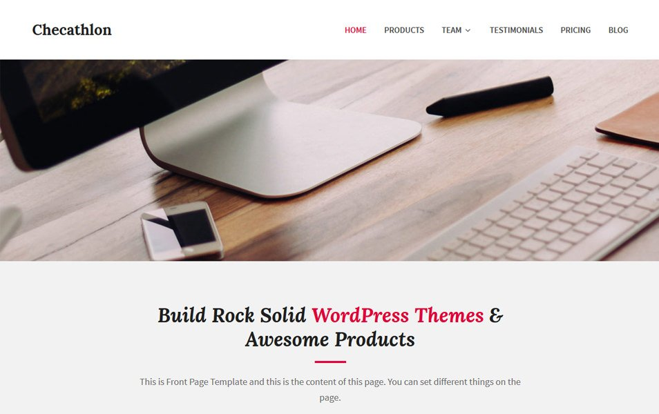 Checathlon Responsive WordPress Theme