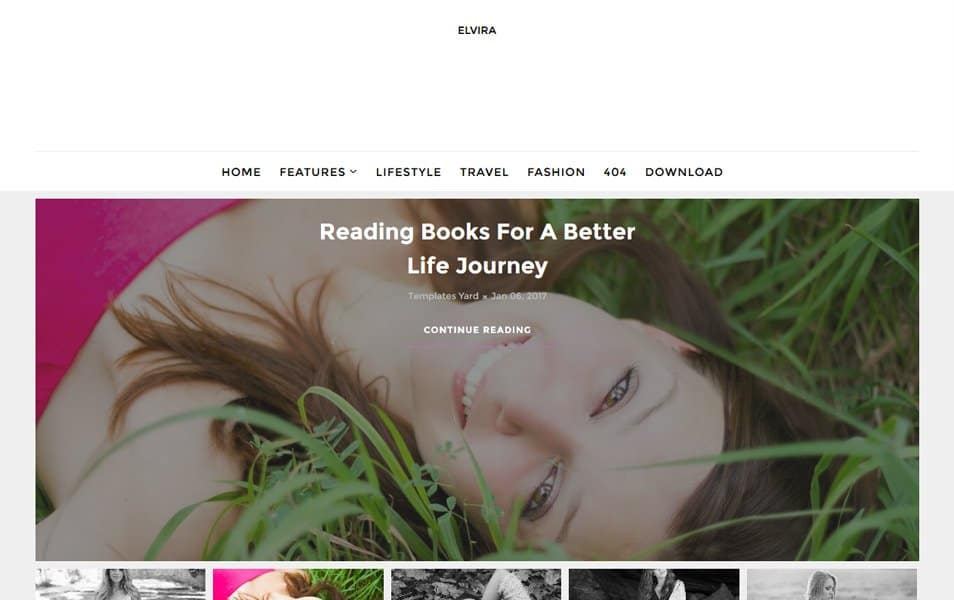 Elvira Beauty Blogger Template