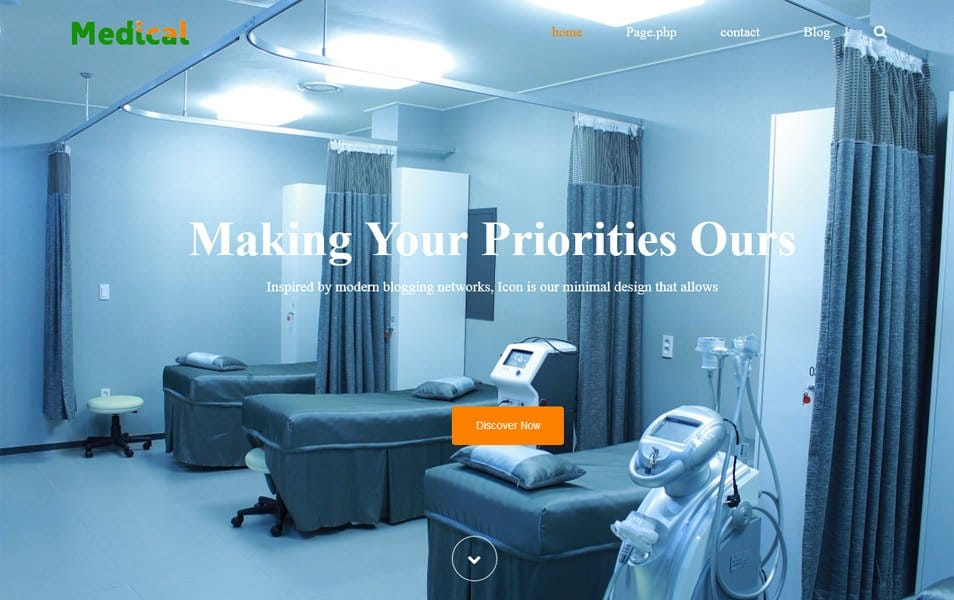 Medical Life Responsive WordPress Theme