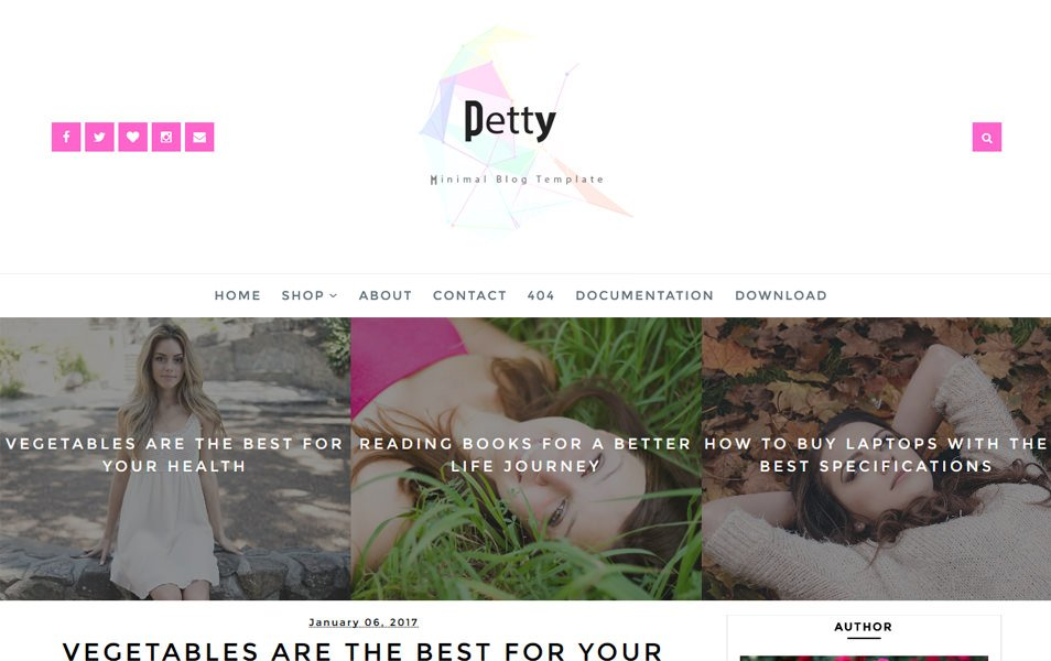 Petty Responsive Blogger Template