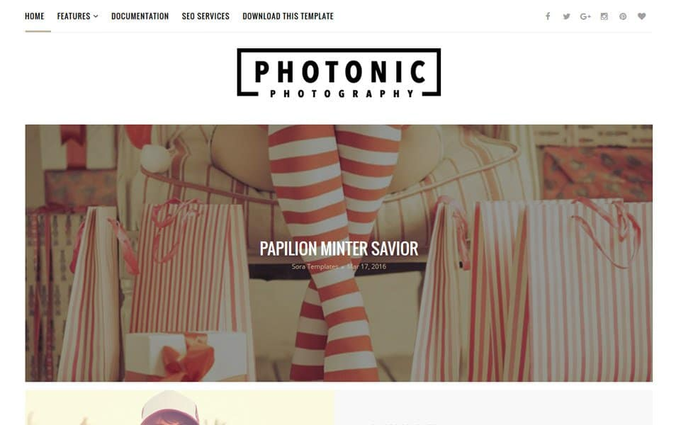 Photonic Photography Responsive Blogger Template