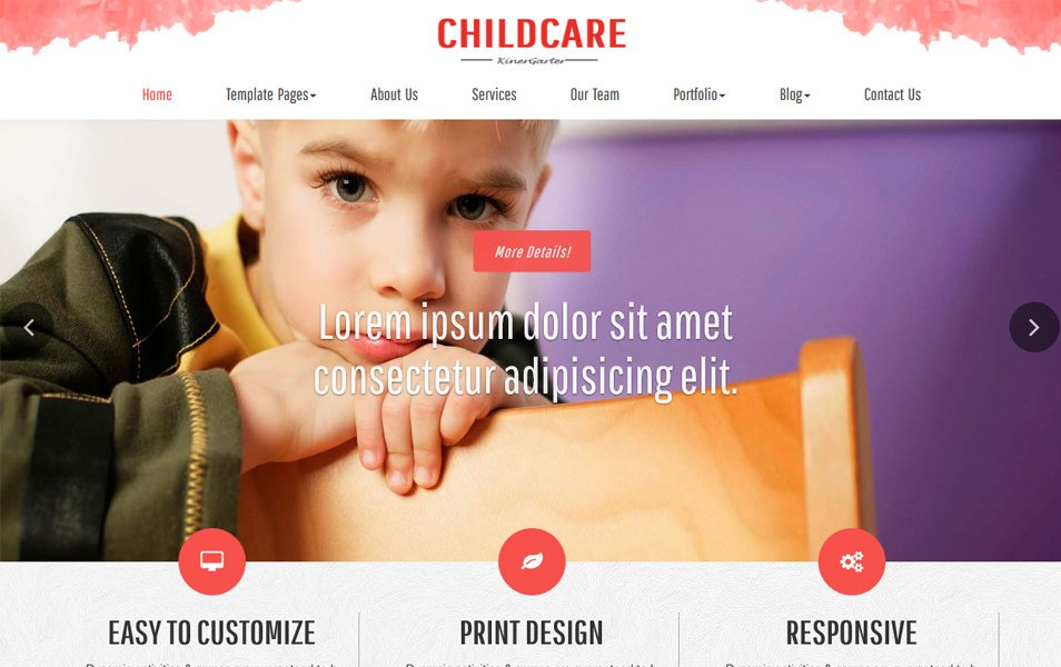 Childcare Responsive WordPress Theme