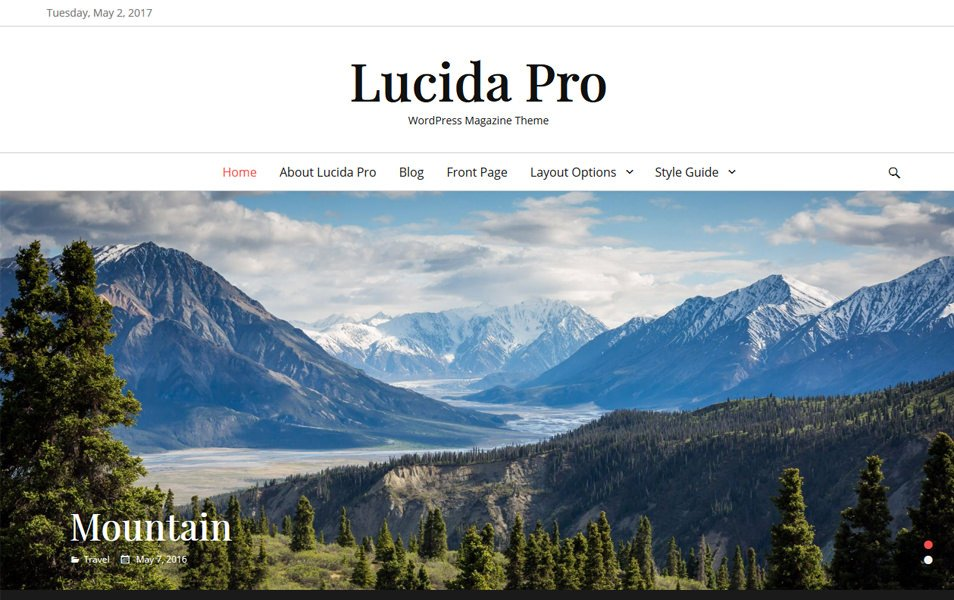 Lucida Responsive WordPress Theme
